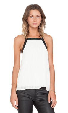 10 CROSBY DEREK LAM Cross Back Top in Soft White