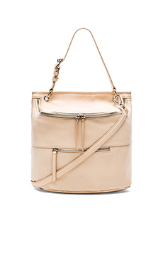 DEREK LAM 10 CROSBY Lafayette Zippy Satchel in Nude