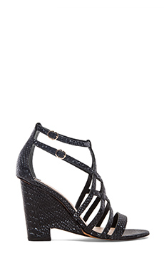 10 CROSBY DEREK LAM Zanzibar Heel in Black & White Tribal Snake