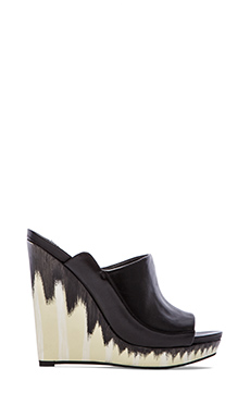 10 CROSBY DEREK LAM Glinda Wedge in Black Leather