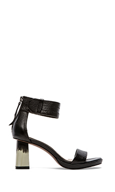 10 CROSBY DEREK LAM Marcel Sandal in Black Tumbled Leather