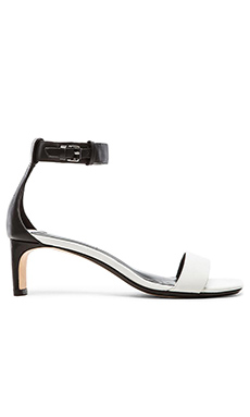 DEREK LAM 10 CROSBY Tehama Sandal in White & Black
