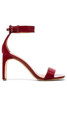 DEREK LAM 10 CROSBY Tilden Cow Hair Sandal in French Red