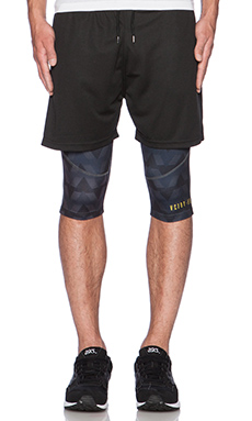 10 Deep False Trainer Short in Black
