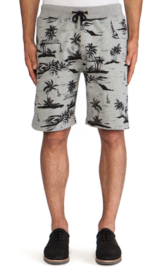 10 Deep Black Sands Sweatshort in Grey
