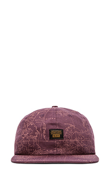 10 Deep Local Native Snapback in Burgundy