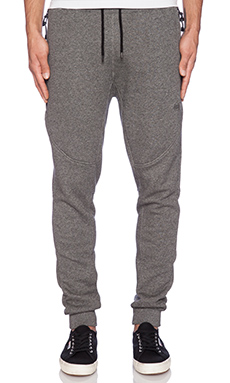 10 Deep Tech Sweatpant in Black Marl