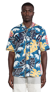 10 Deep Birds of Paradise Jersey in Blue