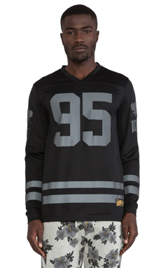 10 Deep All Saints Mesh Jersey in Black