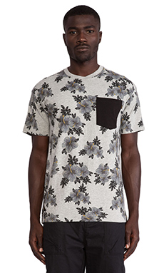 10 Deep Tribes Pocket Tee in Heather Grey