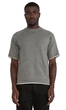 10 Deep Kramer S/S Crew in Black Marl