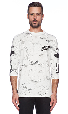 10 Deep Errors Baseball Tee in White