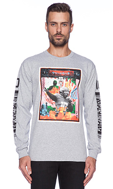10 Deep X Nate James Savages L/S Tee in Heather Grey