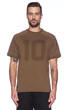 10 Deep J. Brown Football Jersey in Olive Drab
