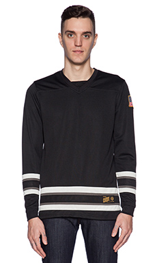 10 Deep 95 Mesh Hockey Jersey in Black