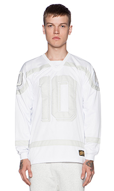 10 Deep Bruisers Polyknit Hockey Jersey in White