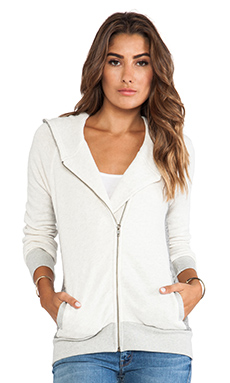 19 4t Asymmetrical Hoodie in Cream & Charcoal