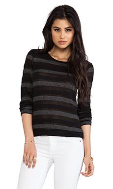 19 4t Long Sleeve T-Shirt in Black Stripe