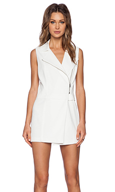 1. STATE Zip Off Sleeveless Vest in New Ivory