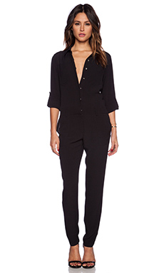 1. STATE Flight Jumpsuit in Rich Black