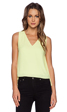 1. STATE Double Back Split Tank in Citrus Sun