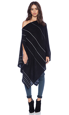27 miles malibu Lexi Mini Stripe Poncho in Black