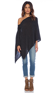 27 miles malibu Chumash Lace Up Poncho in Shadow