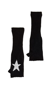 360 Sweater Starlett Glove in Black/Heather Grey Star