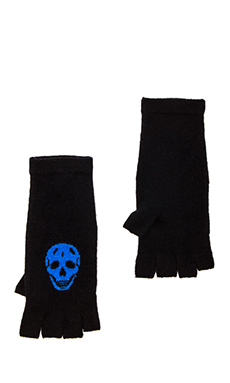 360 Sweater Luther Fingerless Glove in Black/Electric Blue