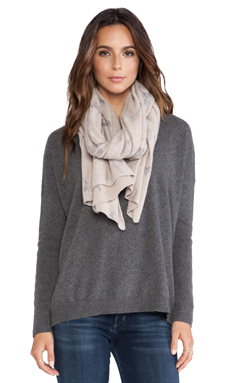 360 Sweater Multi Dexter Scarf in Sable & Heather Grey