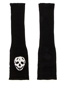 360 Sweater Luther Arm Glove in Ivory & Black