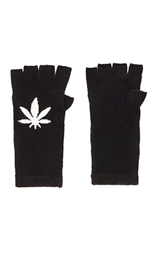 360 Sweater Ganja Glove in Black & Ivory