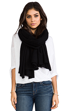 Skull Cashmere Linus Scarf in Black