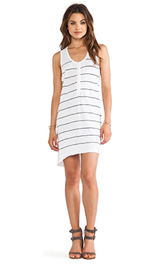 360 Sweater Clemence Dress in White & Black