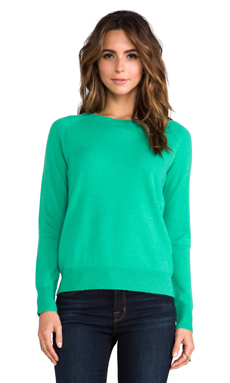 360 Sweater Harper Cashmere Sweater in Kelly