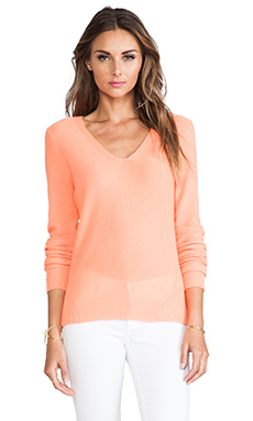 360 Sweater Layna Cashmere Sweater in Tangerine