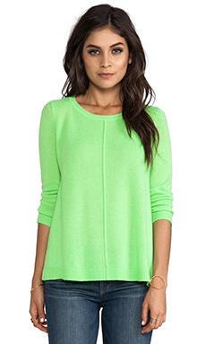 360 Sweater Sam Cashmere Sweater in Limeade