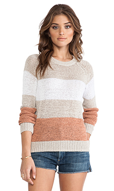 360 Sweater Yoga Sweater in Plaster & White & Briar Rose Stripes
