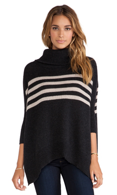 360 Sweater Adrianna Sweater in Cinder & Sable Stripe