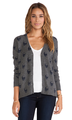 360 Sweater Multi Dexter Cardigan in Charcoal & Navy