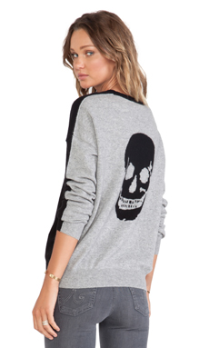 360 Sweater Luther Reverso Sweater in Black & Heather Grey