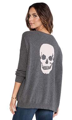 360 Sweater Luther Side Button Tunic in Charcoal & Woodrose