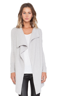 360 Sweater Abigail Cardigan in Powder Grey