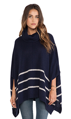 360 Sweater Violet Sweater in Navy & Oatmeal Stripes