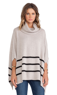 360 Sweater Violet Sweater in Oatmeal & Black Stripes
