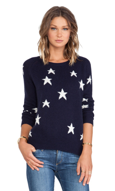 360 Sweater Capella Sweater in Navy & Ivory