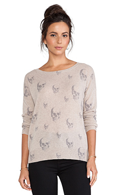360 Sweater Multi Dexter Crew Sweater in Sable & Heather Grey
