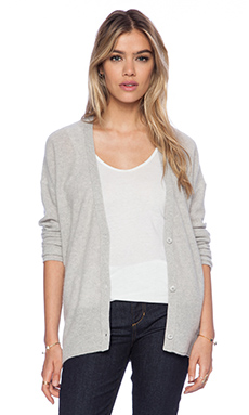 360 Sweater Candace Cardigan in Powder Grey
