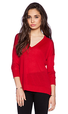 360 Sweater Fiona Sweater in Siren Red