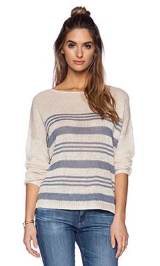 360 Sweater Marin Sweater in Au Natrel & Denim Stripe
